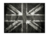Grunge Union Jack Flag Background With Splats, Stains And Creases Prints by  kjpargeter