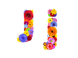 Flower Alphabet Isolated On White - Letter J Poster by  tr3gi
