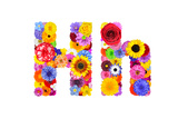 Flower Alphabet Isolated On White - Letter H Posters by  tr3gi