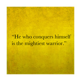 Inspirational Quote By Confucius On Earthy Background Prints by  nagib