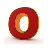 3D Alphabet, Letter O Isolated On White Background Prints by Andriy Zholudyev