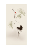 Oriental Style Painting, Red-Crowned Crane Poster af ori-artiste