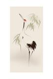 Oriental Style Painting, Red-Crowned Crane Plakat autor ori-artiste