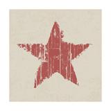 Grunge Red Star Premium Giclee Print by  pashabo