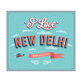 Vintage Greeting Card From New Delhi - India Prints by  MiloArt