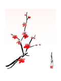 Cherry Blossom Painting Prints by  shadow216