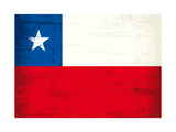 Chilean Grunge Flag. A Grunge Flag Of Chile With A Texture Art by  TINTIN75