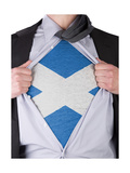 Business Man With Scottish Flag T-Shirt Prints by  IJdema