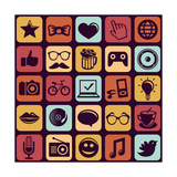 Trendy Hipster Icons Prints by  venimo