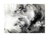 Abstract Black And White Ink Painting On Grunge Paper Texture - Artistic Stylish Background Art by  run4it