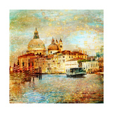 Mystery Of Venice - Artwork In Painting Style Premium Giclee Print by  Maugli-l