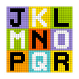 8-Bit Pixel Letters Set 2: Jkl Mno Pqr Prints by  wongstock