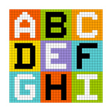 8-Bit Pixel Letters Set 1: Abc Def Ghi Posters by  wongstock