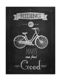 Bicycle Vintage Typographical Background Prints by  Melindula