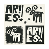 Naive Abstract Horoscope, Hand Drawn Sign Of The Zodiac Aries Print by Andriy Zholudyev