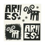 Naive Abstract Horoscope, Hand Drawn Sign Of The Zodiac Aries Print by Andriy Zholudyev