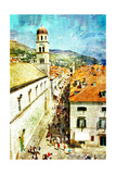 Ancient Dubrovnik - Artistic Picture In Painting Style Prints by  Maugli-l