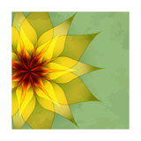 Vintage Abstract Green Background With Flower Posters by  silvionka