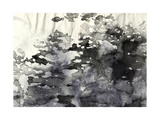 Abstract Black And White Ink Painting On Grunge Paper Texture - Artistic Stylish Background Print by  run4it
