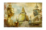 Amazing Bangkok - Artwork In Painting Style Art by  Maugli-l
