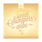 Sweet Summer Wibe Typography Background For Summer Posters by  Melindula