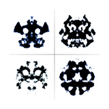 An Image Of The Rorschach Test Ink Blots Prints by  magann