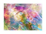 Abstract Grunge Texture With Watercolor Paint Splatter Posters by  run4it