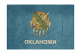 Grunge Oklahoma State Flag Of America, Isolated On White Background Art by  Speedfighter