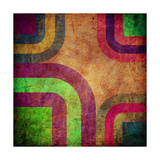 Abstract Curved Bands, Grunge Background Posters by  molodec