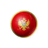 Soccer Football Ball With Montenegro Flag Posters by  daboost