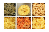 Different Types Of Pasta In White Wooden Box Sections Close-Up Plakater af  Yastremska