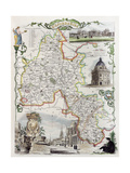 Old Oxfordshire Map Prints by  marzolino