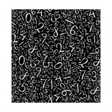 Seamless Pattern: Simple Numbers On Blackboard Background Premium Giclee Print by  pashabo
