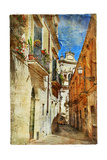 Italian Old Town Streets- Lecce.Picture In Painting Style Prints by  Maugli-l