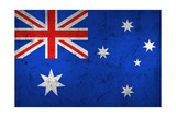 Grunge Dirty And Weathered Australian Flag Prints by  Geschaft