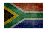 National Flag Of The Republic Of South Africa Print by Bruce stanfield