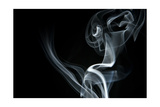 White Smoke Rising On Black Background Posters by Ambient Ideas