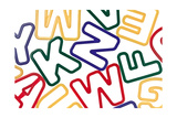 Plastic Colorful Toy Letters Background Prints by  donatas1205