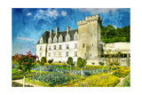 Villandry - Castle Of Loire - Picture In Painting Style Posters by  Maugli-l