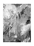 Abstract Black And White Ink Painting On Grunge Paper Texture - Artistic Stylish Background Posters by  run4it