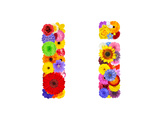 Flower Alphabet Isolated On White - Letter I Prints by  tr3gi