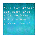 Inspirational Quote By Walt Disney On Earthy Background Prints by  nagib