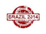 Brazil 2014 Stamp Isolated On White Background Posters por  Speedfighter