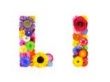 Flower Alphabet Isolated On White - Letter L Print by  tr3gi