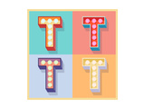 Simple And Clear Flat Lamp Alphabet - Letter T Art by  dgbomb