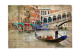Beautiful Venice - Artwork In Painting Style Prints by  Maugli-l
