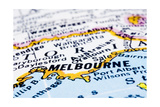 Close Up Of Melbourne On Map, Australia Poster by  mtkang