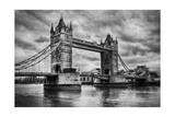 Tower Bridge In London, The Uk. Black And White, Artistic Vintage, Retro Style Prints by PHOTOCREO Michal Bednarek