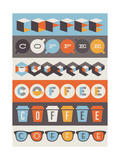 Coffee Emblems. Set Of Design Elements Posters by  ussr