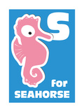 S For The Seahorse, An Animal Alphabet For The Kids Prints by Elizabeta Lexa
